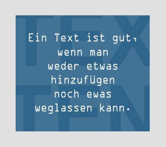 Texte von Petersen Design Nordfriesland