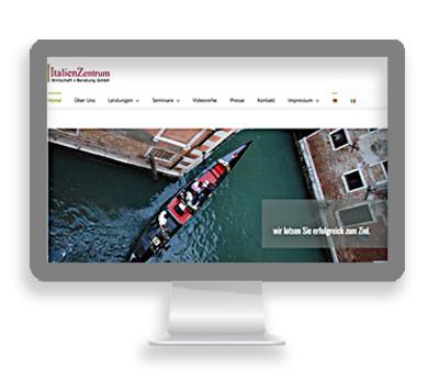 Webarbeiten ItalienZentrum Hamburg von Petersen Design