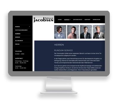 Webarbeiten Friseur Jacobsen von Petersen Design