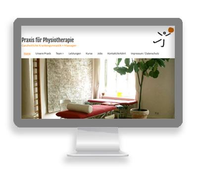 Webarbeiten Physiotherapie HLP von Petersen Design