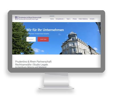 Webarbeiten Prudentino und Rhein von Petersen Design