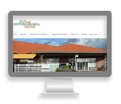 Webarbeiten Stiftung Uhlebüll von Petersen Design